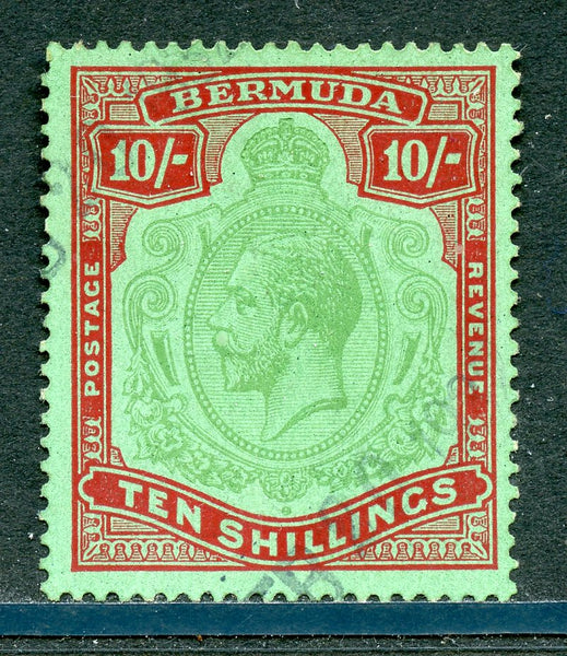 Bermuda Scott 96 SG 92 Ten Shillings Lightly Used
