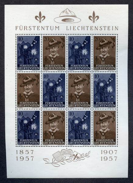 Liechtenstein Scott 316a Boyscout NH Souvenir Sheet VF