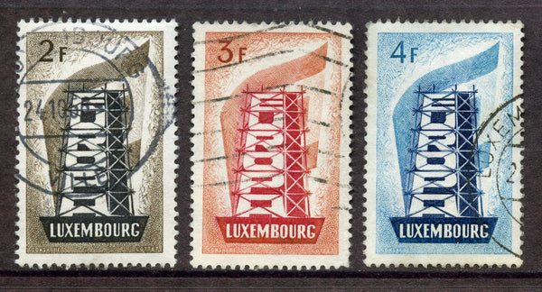 Luxembourg EUROPA Scott 318-20 VF Used $63.25