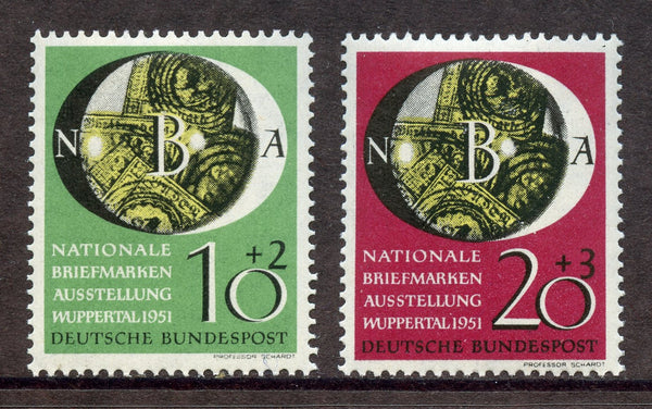 Germany Bund Scott B318-19 Mi. 141-42 Mint NH