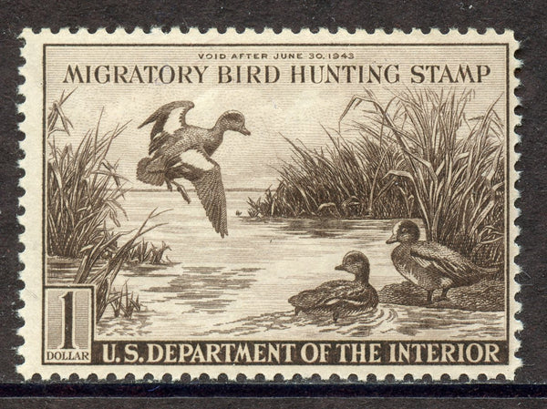 US RW9 Duck stamp VF OG Mint NH Stamp