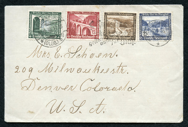 Germany B93/100 on cover to Denver Co. USA