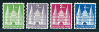 Germany Scott 658-61 Hi Values Mint LH