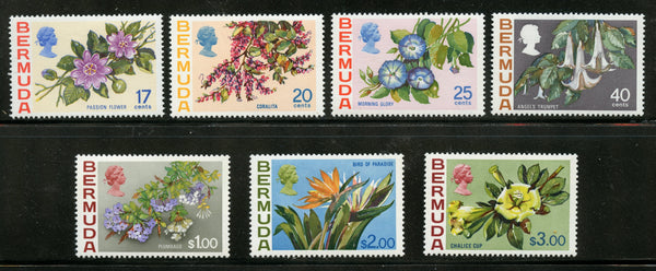 Bermuda Scott 322-28 Flowers VF Mint NH