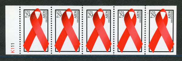 US Scott 2806b Aids never folded booklet pane Mint NH