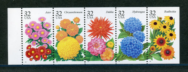 US Scott 2997a Never Folded Booklet Pane Mint NH Flowers