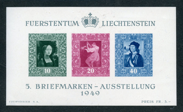 Liechtenstein Scott 238 Mint NH S. Sheet Philatelic Expo