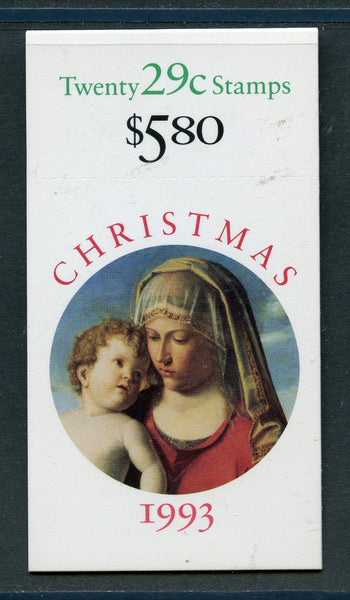 US Scott BK202a Booklet Madonna & Child Christmas