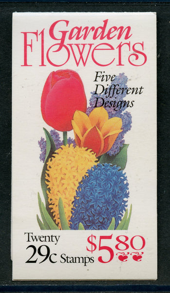 US Scott BK208 Flower Booklet