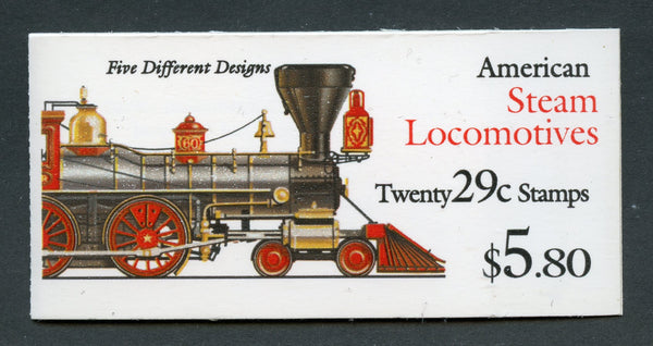 US Scott BK216 Trains Booklet