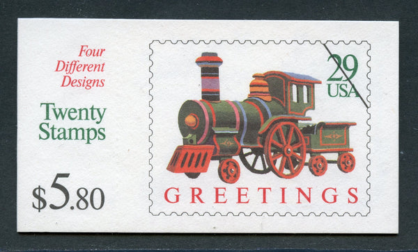 US Scott BK203 Trains Booklet