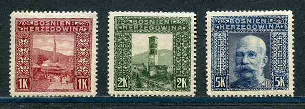 Bosnia Scott 43-45 High values Mint LH