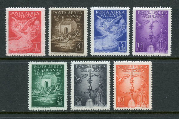 Vatican Scott C9-15 1947 Airmails MINT NH Archeology