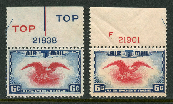 US C23 Two Plate number singles Mint LH