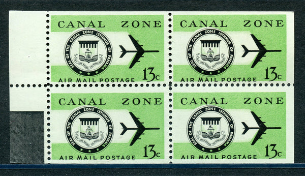US Canal Zone C50a Booklet Pane VF NH