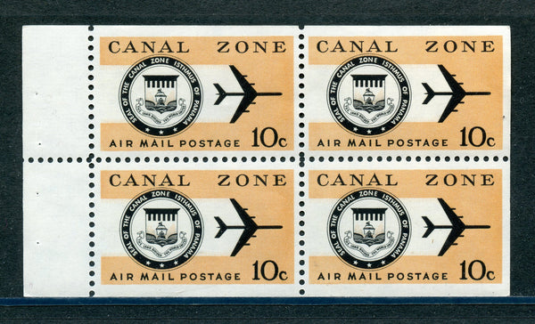 US Canal Zone C48a Booklet Pane VF NH