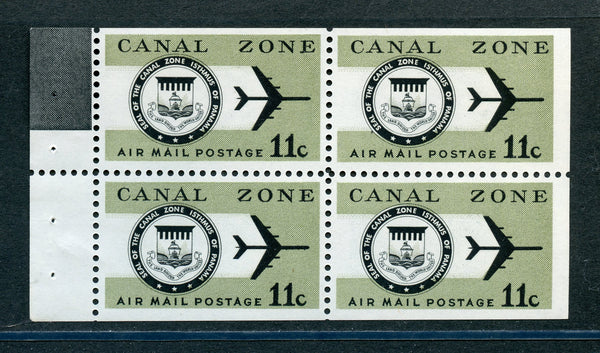 US Canal Zone C49a Booklet Pane VF NH