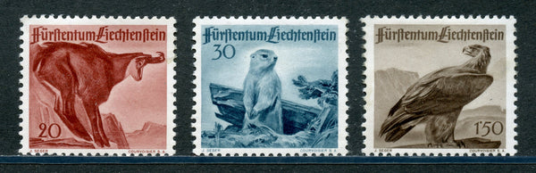 Liechtenstein Scott 223-5 Birds,Animals  Mint LH