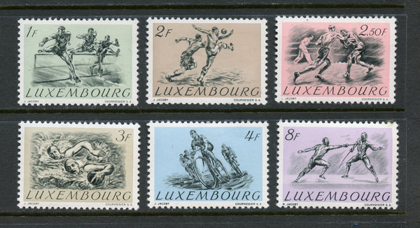Luxembourg Scott 280-85 Sports Mint NH