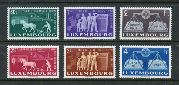 Luxembourg Scott 272-77 Mint several thins Europa