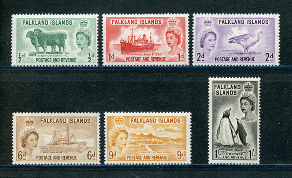 Falkland Islands Scott 122-27 QEII Mounted Mint