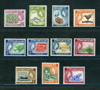 Pitcairn Islands Scott 20-30 QEII Mounted Mint