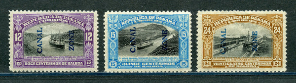 US Canal Zone 49-51 Mint Hinged