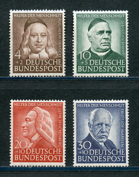 Germany Bund Scott B334-37, Mi.133-36 Mint NH