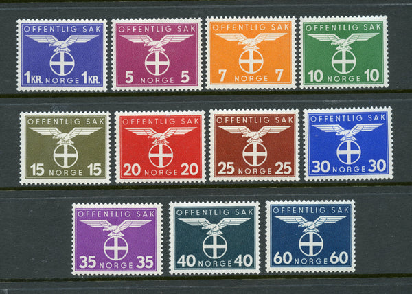 Netherlands Scott O44-54 Mint LH