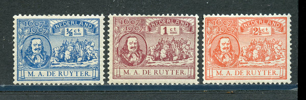 Netherlands Scott 87-89 Naval Heroes Mint LH