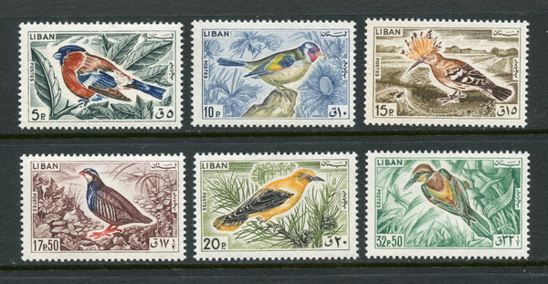 Lebanon Liban Scott 434-39 Birds Mint NH