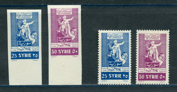 Syria Syrie Scott 198-99 Perf. & Imperf. Sets Mint LH