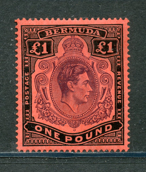 Bermuda SG 121d KGVI One Pound Value VF Mounted Mint