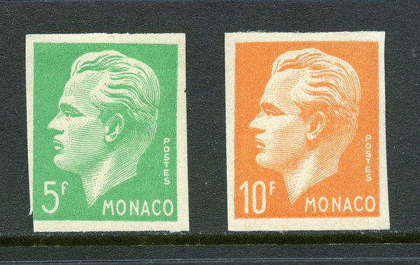 Monaco Scott 258-59 Ceres 349-50 Imperf. Set Mint NH