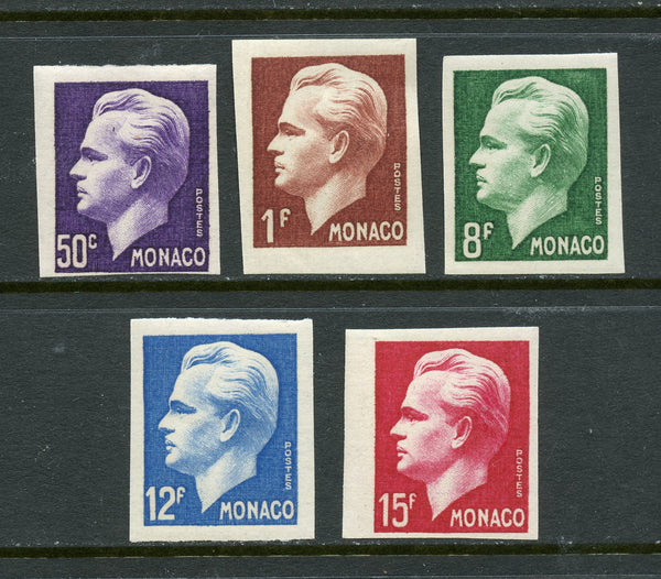 Monaco Scott 253-7 Imperf. Set Mint NH