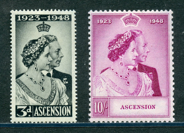 Ascension Scott 52-53 SG50-50 KGVI 1948 Silver Wedding VF Mint NH