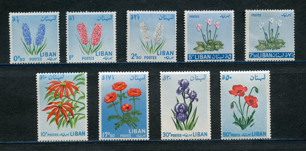 Lebanon/Liban Scott 418-26 Flowers Mint NH