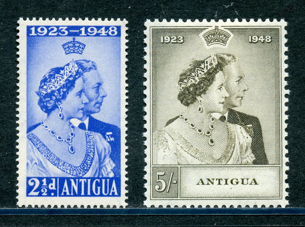 Antigua Scott 98-99 SG112-13 KGVI 1948 Silver Wedding Mint NH