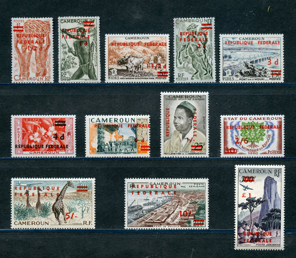Cameroun Scott 343-51, C38-40 Mint NH