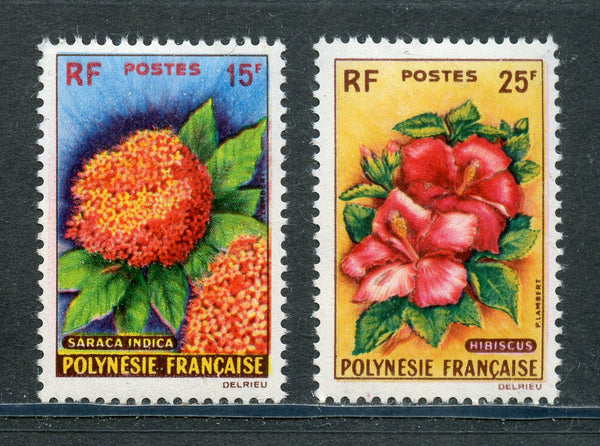 French Polynesia Scott 196-7 Mint NH Flora