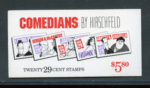 US Scott BK191 COMEDIANS Fresh Booklet