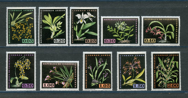 Venezuela Scott C794-803 FLOWERS MINT LH