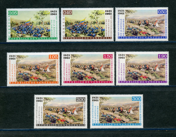 Venezuela Scott 802-03, C779-84 BATTLE OF CAROBOBO Mint LH