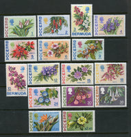 Bermuda Scott 255-71 Flower Set Mint NH