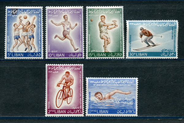 Lebanon Liban Scott 415-17, C385-7 Sports Mint NH Set