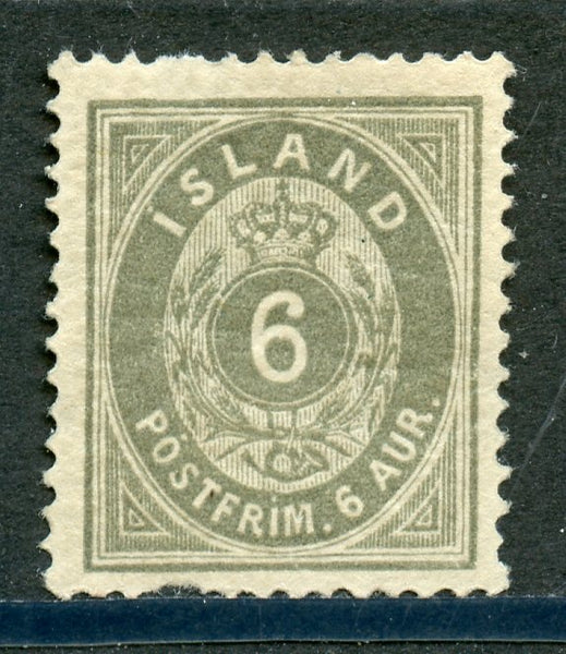 Iceland Scott 10 Mint LH Thin spot