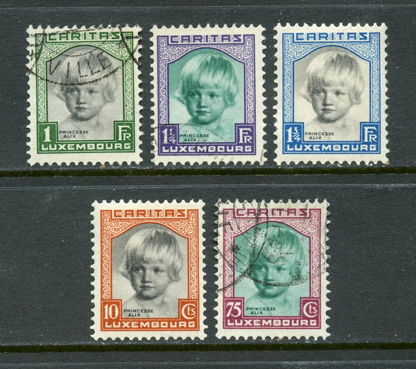 Luxembourg Scott B45-49 Mint and Used Set Cat. val $72.00