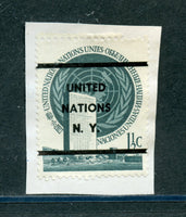 UN 1951 1 1/2c Building Precancel Stamp on Paper