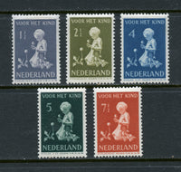 Netherlands Scott B129-33 Mounted Mint Set