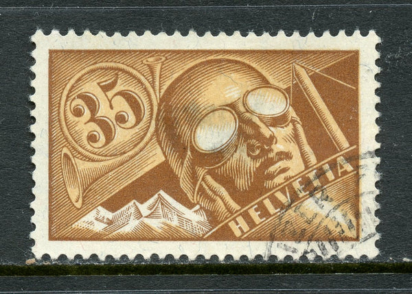Switzerland Scott C6 VF Used Thin Spot